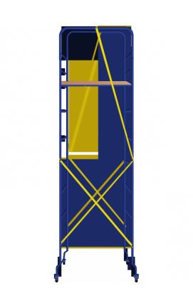 Подмости строительные 1,51*0,51 высота рабочей зоны 4,9м. Для ремонтных, отделочных работ.