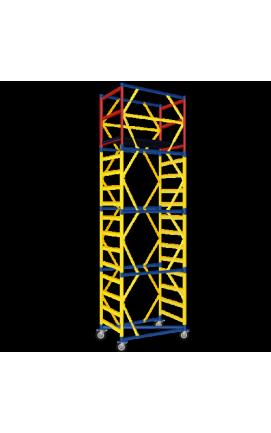 Вышка-тура, рабочая площадка 1,6 х 0,6 (2+1) max рабочая высота 4.8м